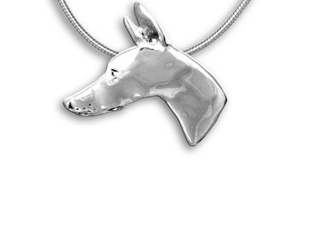 Sterling Silver Doberman Pin Pendant