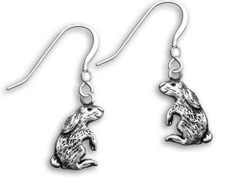 Sterling Silver Rabbit Earrings