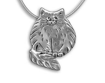 SS Fat Cat Pin Pendant