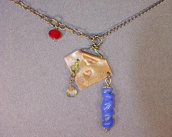 Citrine, Glass Necklace