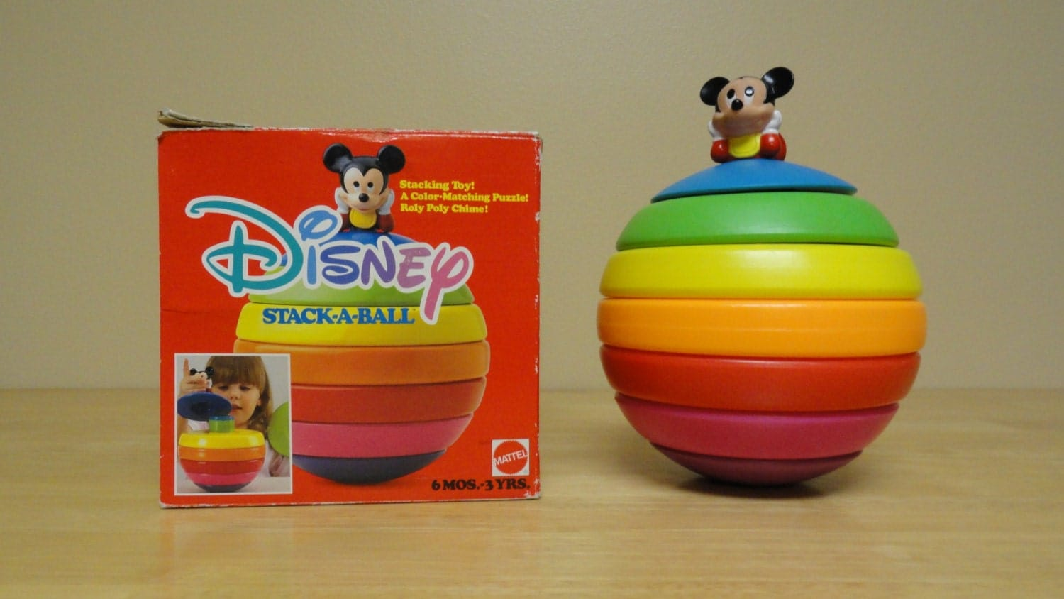 Disney Stack A Ball Stacking Toy Mattel Mickey by greenwhimsyshop