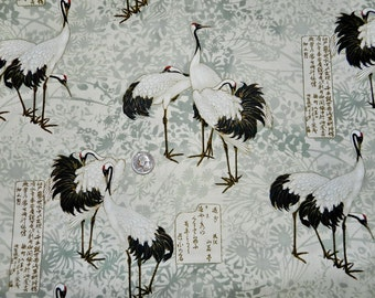 Lotus Asian Crane - 29 inches x 44 inches - H