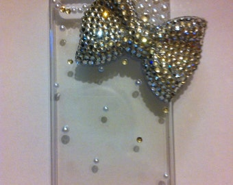 Crystal bling bow iphone SE, iPhone 5, iPhone 5s case