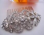 Bridal hair comb Wedding hair accessories Bridal hair jewelry Wedding headpiece Bridal accessories 1920's wedding jewelry bridal haircomb