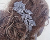 1920's Wedding accessories Bridal hair comb 1920's wedding headpiece Bridal hair jewelry Wedding accessories Bridal hair accessories Wedding