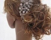 1920's Wedding accessories Bridal hair comb Wedding hair jewelry 1920's bridal accessories wedding headpiece bridal comb wedding jewelry