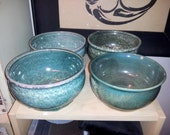 Set of 4 Moldy Green Bowls