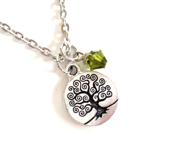 Tree Necklace, Statement Necklace, Yoga Jewelry, Yoga Necklace, Teachers Gift, Sisters Gift, Graduation Gift, Nature Lovers Gift