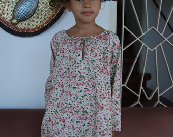 Girl's printed cotton dress