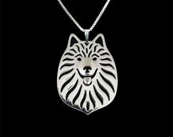 German Spitz jewelry - sterling silver pendant and necklace.