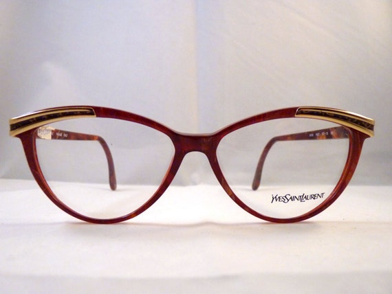 Yves Saint Laurent Cat Eye Vintage Eyeglasses By