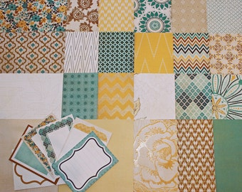 Indie Chic Nutmeg collection by My Minds Eye 6x6 paper pack 46 sheets with tags