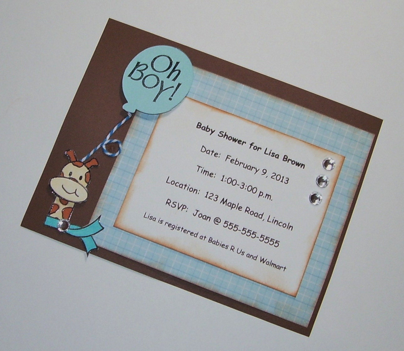 baby shower invitations set of 10 handmade party by sassadoodle