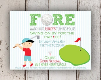 Golf Invitation (Golf party, Putt Putt Golf)