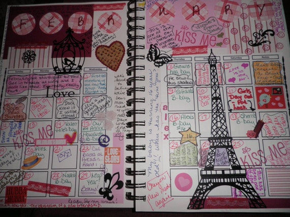 Art Journal Calendar Pages : Items similar to blank calendar pages for art journal