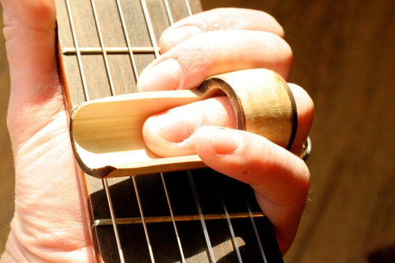 reverse bamboo guitar slide