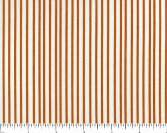 Hello Pilgrim Stripe in Orange by Lizzy House for Andover Fabrics- Fat Quarter