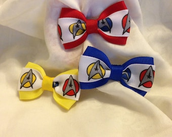 Star Trek Starfleet Hair Bow - 2 inches