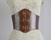 Fleet Street Virago's Corset Cinch Belt - Small/Med Distressed Leather