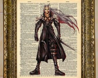 Sephiroth Final Fantasy Dictionary Art