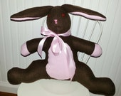 Choco Latte  - Perfect Easter Basket Bunny - As shown ready to ship, or order custom
