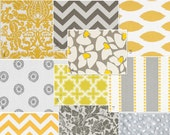 Baby bedding design your own - grey and yellow