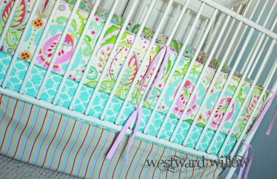 5 Piece Custom Crib Bedding Set w/FREE monogram