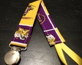 J&K Pacifier Clips, LSU Tigers