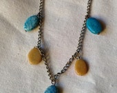 Brass Necklace with Beads