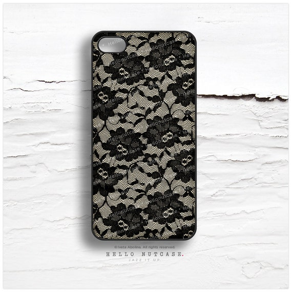 iPhone 6S Case Lace, iPhone 5C Case Black Lace, iPhone 5s Case Floral, Phone 6 Case, Black iPhone Case, Black Cream iPhone 6S Plus Cover T40
