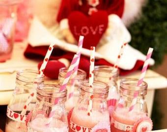 Glass Milk Jars, Milk Bottles, Vintage Bottles, Wedding Drink Bottles, Glasses, 24 Mini Milk Jug as seen in PEOPLE magazine