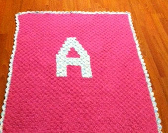 Personalized Initial Baby Blanket