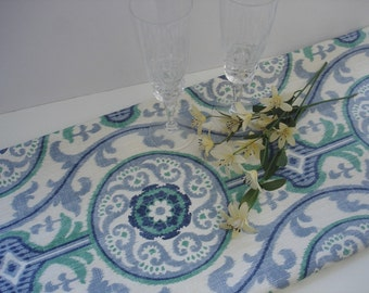 TABLE RUNNER Blue Wedding top 13 x 72  Table Runners baby shower Party Blue Table Cloth