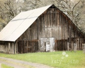 Barn print-country photography- farm life, kitchen print, country print,  dreamy decor, cabin decor 8x12 - KatyJanePhotography