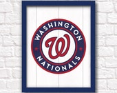 Washington Nationals - rustic wood sign - Sports room Wall hanging Boys room Man cave decor Washington DC sports - Fathers Day gift for Dad