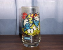 SMURF GLASS 1983 Collector Series