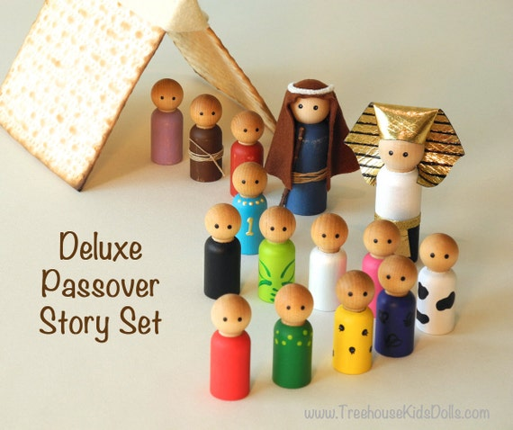 Last One - Passover STORY SET, ten plagues, Seder for Kids, Kid Friendly Seder Deluxe story set, matzah tent set
