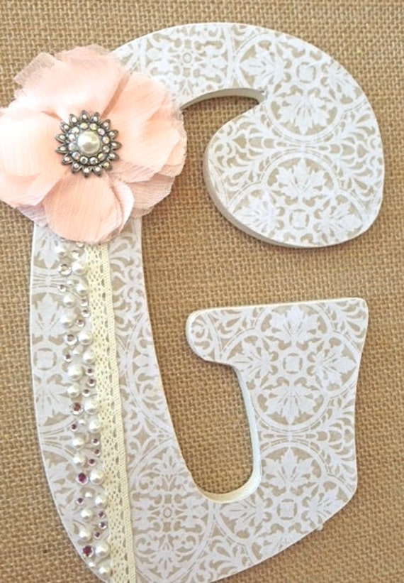 Custom wooden nursery letters baby girl nursery decor for S letter decoration
