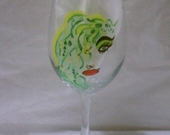 Sassy, Wild Girls Hand Painted 20oz Wine Glass