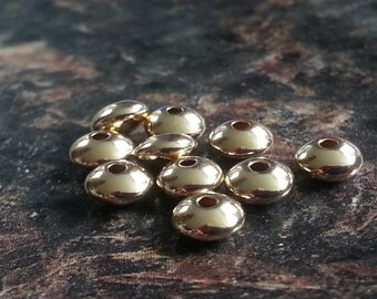 10 Pieces 14K Gold Filled 4mm Rondelle Bead MADE IN Usa