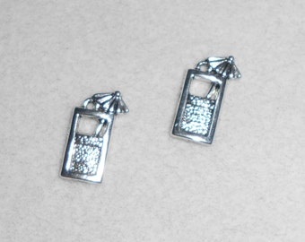 Silver Tropical Drink Charms