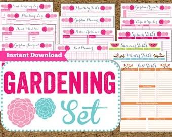 INSTANT DOWNLOAD Gardening Planner- Garden Printables-15 Pdf Printable Sheets