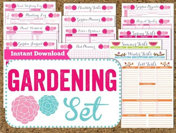 INSTANT DOWNLOAD Gardening Planner Garden Printables 15 Pdf