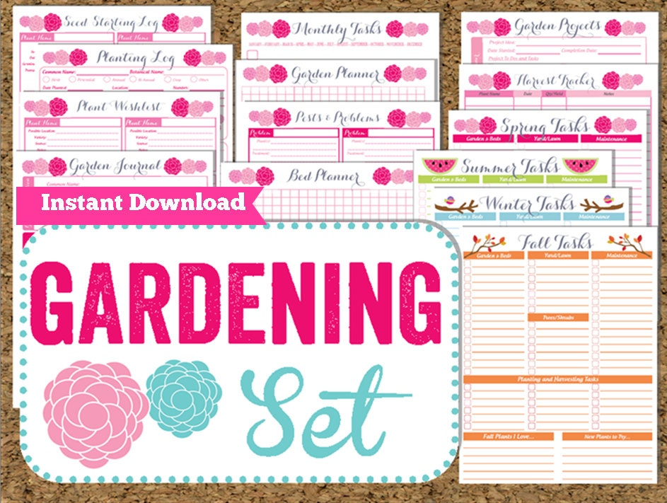 It's just a photo of Invaluable Printable Garden Planner