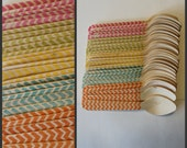 20 Bright Chevron Print Spoons or Forks