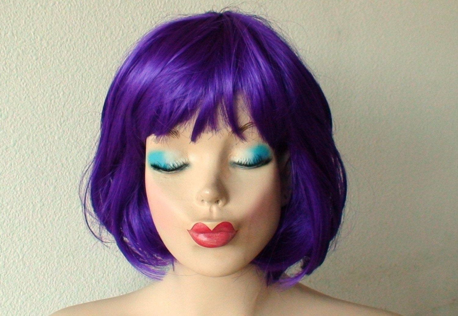 Purple Wig Purple Hair Short Purple Wig Bob By Kekeshop