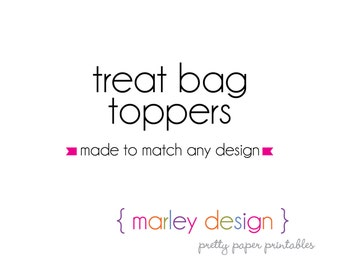 Customized Treat Bag Toppers Printable Personalized Party Favors