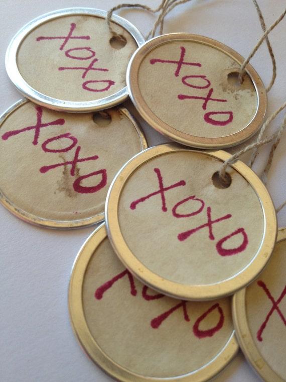 Wedding Favor Tags Uk : XOXO Gift TagsWedding Favor TagsEngagement PartyBridal Shower ...