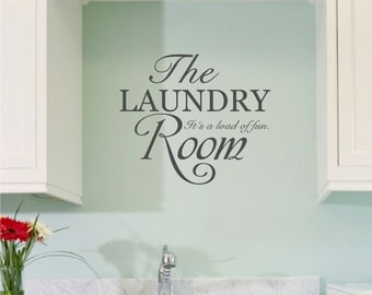 The Laundry Room vinyl wall decal sticker