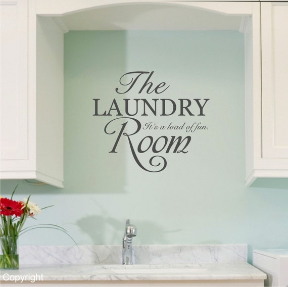Laundry Room Wall Decor Stickers : The laundry room vinyl wall decal sticker